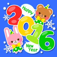 New Year Sticker2016