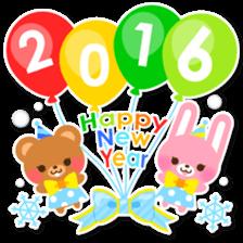 New Year Sticker2016 sticker #8755623