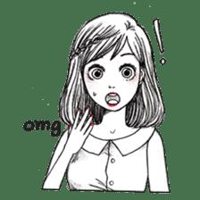 Doodle Girl sticker #8756858