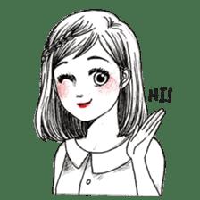 Doodle Girl sticker #8756873