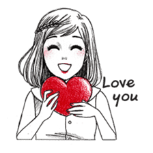 Doodle Girl sticker #8756875