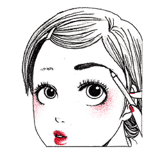 Doodle Girl sticker #8756877