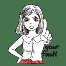 Doodle Girl sticker #8756884