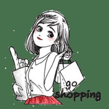 Doodle Girl sticker #8756888