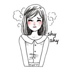 Doodle Girl sticker #8756889