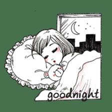 Doodle Girl sticker #8756893