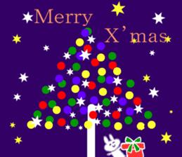 Merry Christmas nice night sticker #8758021