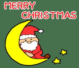 Merry Christmas nice night sticker #8758026