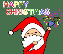 Merry Christmas nice night sticker #8758027