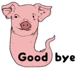 Pig eel. sticker #8761299