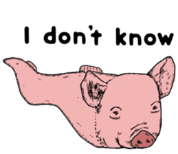 Pig eel. sticker #8761303