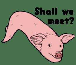 Pig eel. sticker #8761323