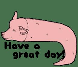 Pig eel. sticker #8761324