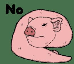 Pig eel. sticker #8761336
