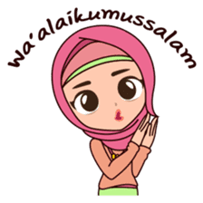 Hijab Girl, Nadia sticker #8761742