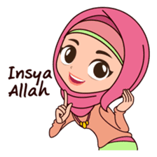 Hijab Girl, Nadia sticker #8761762