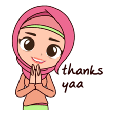 Hijab Girl, Nadia sticker #8761774
