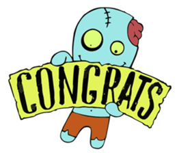zombie friend sticker #8770198