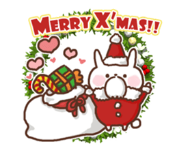 Greeting winter rabbit sticker #8772429