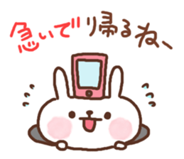 Greeting winter rabbit sticker #8772438