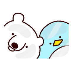 Mr. white bear and Mr. penguin
