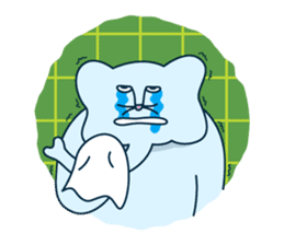 The elephant with cat nose sticker #8812482