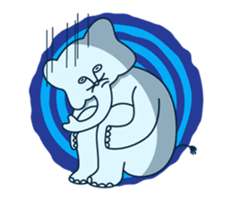 The elephant with cat nose sticker #8812494