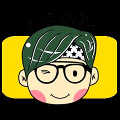 Cute Boy with Green Hair