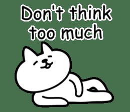 Cat lying down 7 sticker #8814018