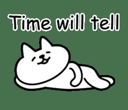 Cat lying down 7 sticker #8814025