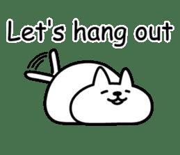 Cat lying down 7 sticker #8814037