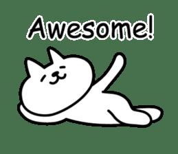 Cat lying down 7 sticker #8814045