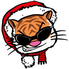 Christmas Edition Santa Tiger & friends