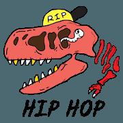 สติ๊กเกอร์ไลน์ DINO HIP HOP