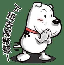 Cool dog-Office worker sticker #8829669