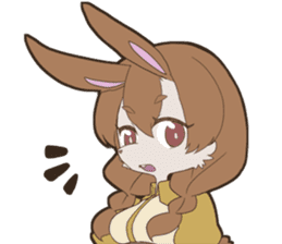 KAWAII rabbit girl sticker #8833966