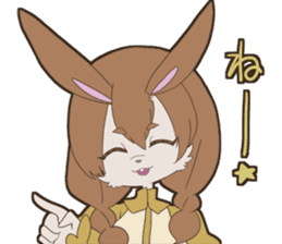 KAWAII rabbit girl sticker #8833972