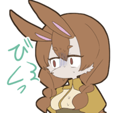 KAWAII rabbit girl sticker #8833977