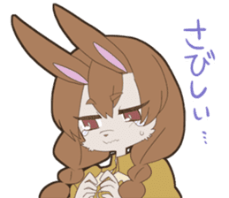 KAWAII rabbit girl sticker #8833979