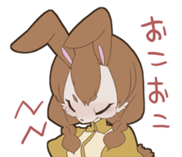 KAWAII rabbit girl sticker #8833981