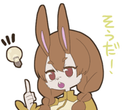 KAWAII rabbit girl sticker #8833984