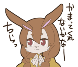 KAWAII rabbit girl sticker #8833994