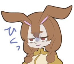 KAWAII rabbit girl sticker #8833998