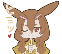 KAWAII rabbit girl sticker #8834000