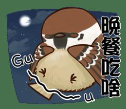 fat sparrow ver.2 sticker #8834767