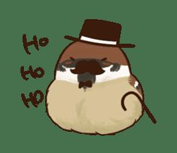 fat sparrow ver.2 sticker #8834796