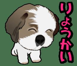 Cute Shih Tzu sticker #8836214