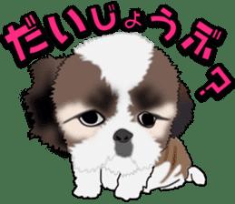 Cute Shih Tzu sticker #8836233