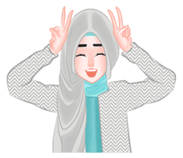 Hijab Outfit of The Day sticker #8837646