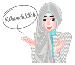 Hijab Outfit of The Day sticker #8837647
